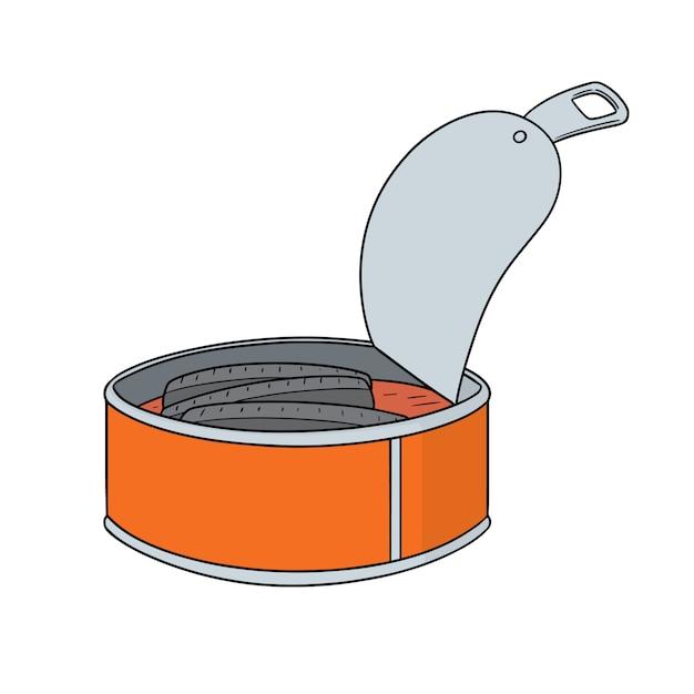缶詰の魚 Premiumベクター