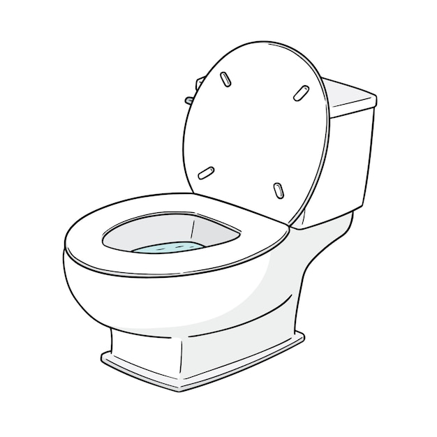 水洗トイレ Premiumベクター