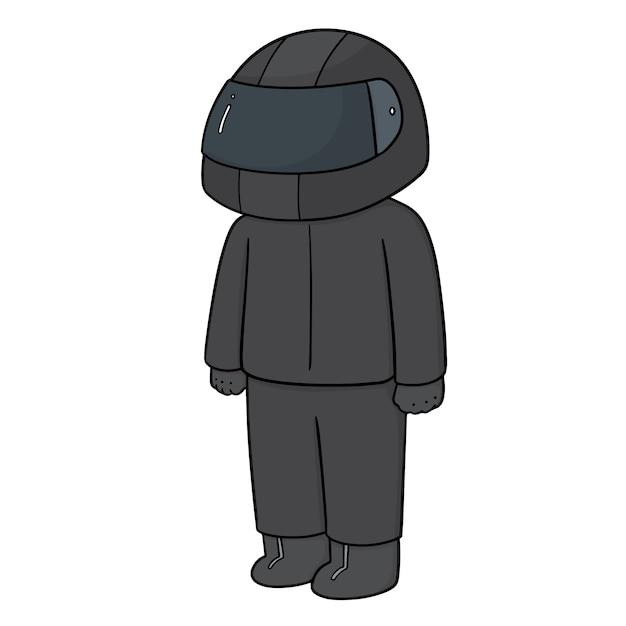 ヘルメットをかぶった男 Premiumベクター