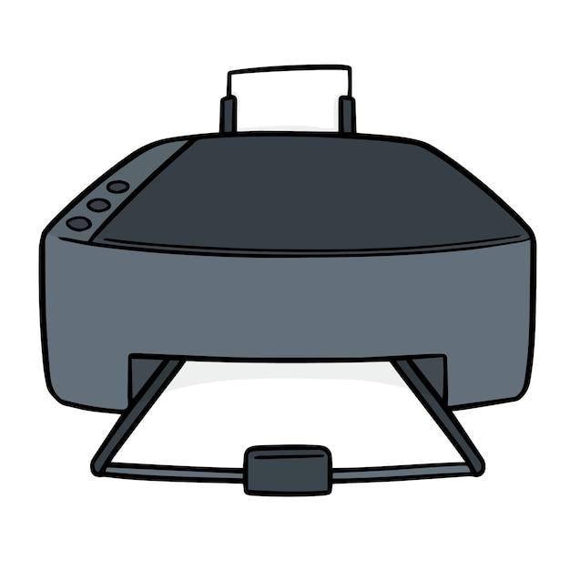Мультфильм принтер Premium векторы