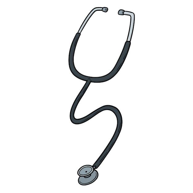 漫画の聴診器 Premiumベクター