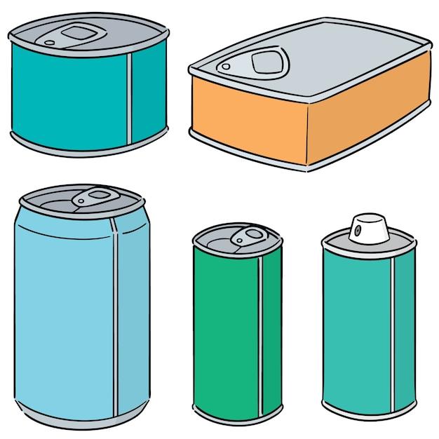 缶のベクトルセット Premiumベクター