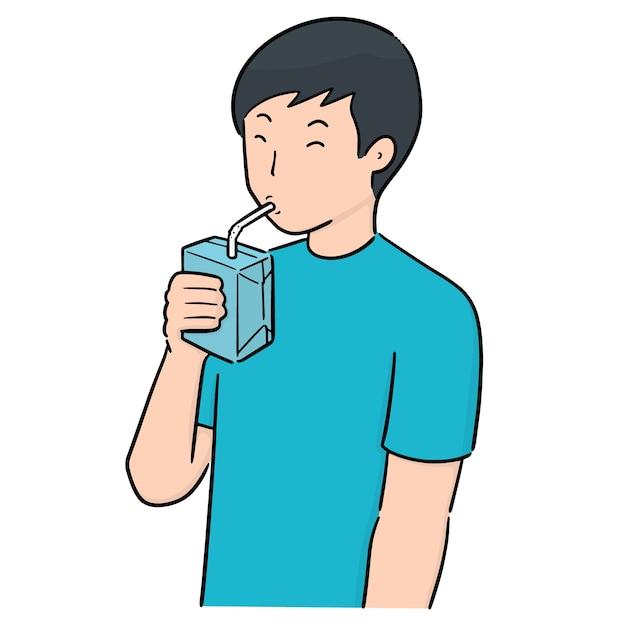 男の飲み物のベクトルセット Premiumベクター