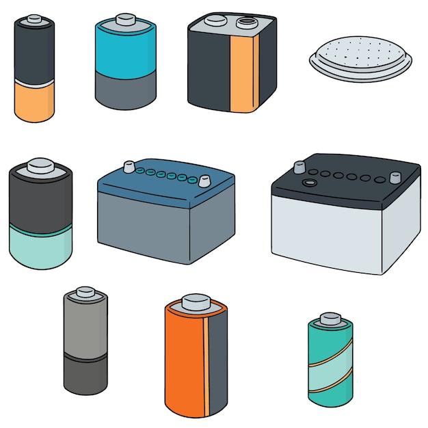 バッテリーのセット Premiumベクター