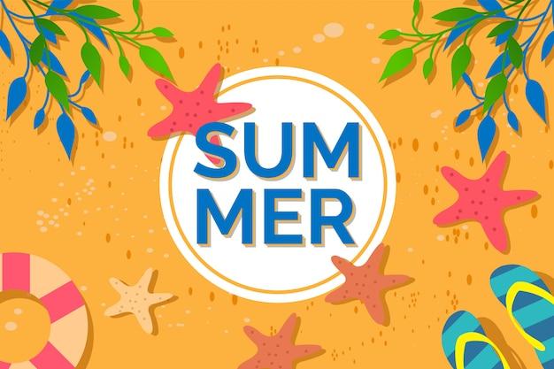 夏の背景イラスト Premiumベクター