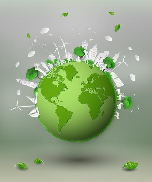 エコの紙切れ Premiumベクター