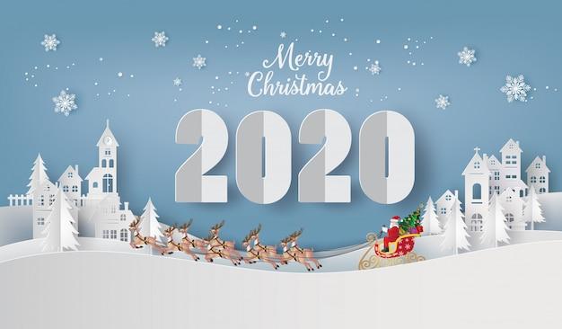 Иллюстрация с новым годом и рождеством Premium векторы