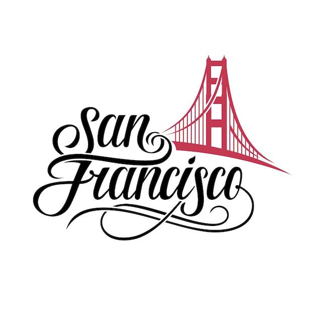 サンフランシスコのレタリング Premiumベクター