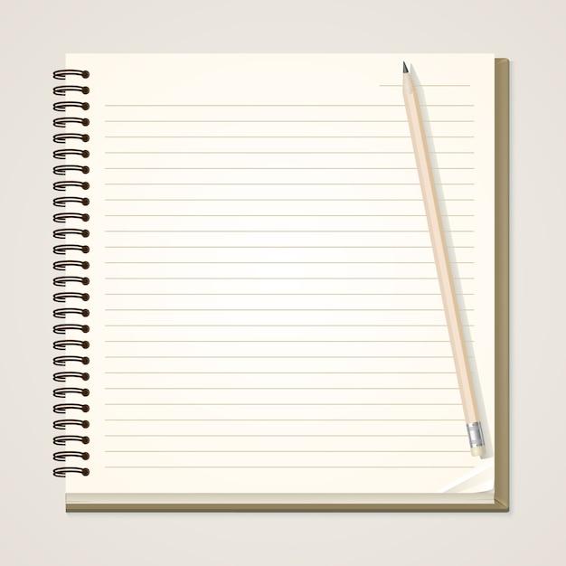 紙のノートと鉛筆 Premiumベクター