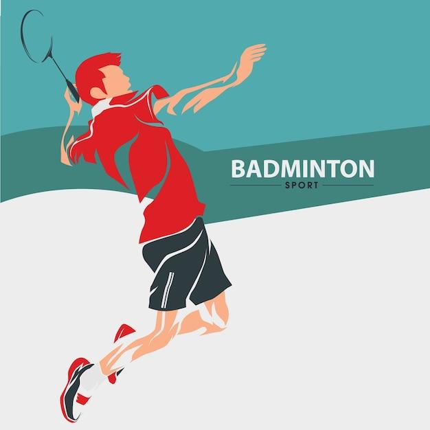 バドミントンスポーツベクトル Premiumベクター