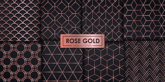 Набор из розового золота Premium векторы