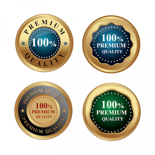 プレミアム品質のゴールドラベル Premiumベクター