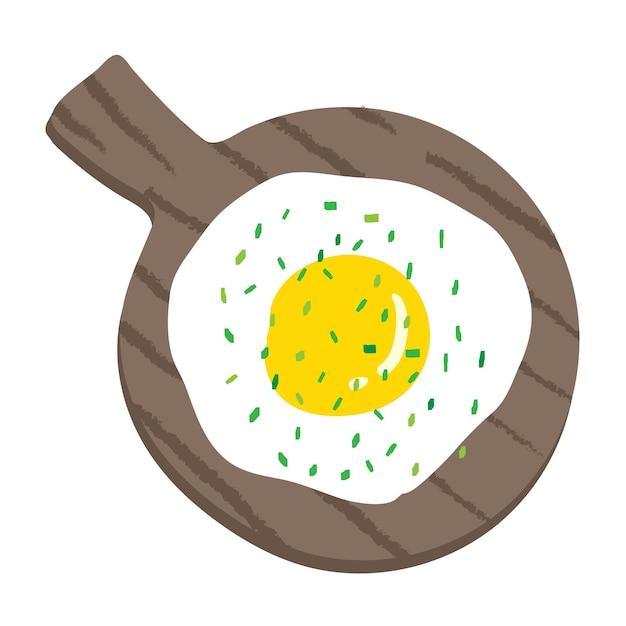 朝食の食品のベクトル図。 Premiumベクター