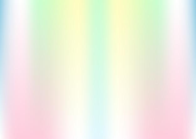 パステルカラーの抽象的なホログラフィック背景 Premiumベクター