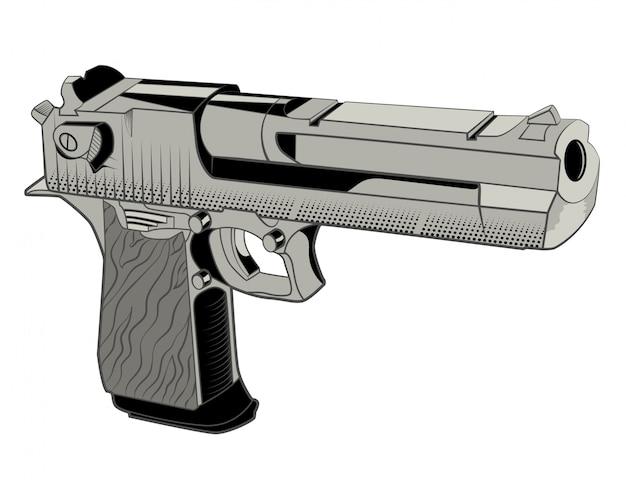 発砲のための強力な銃 Premiumベクター