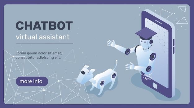 チャットボットのコンセプト Premiumベクター