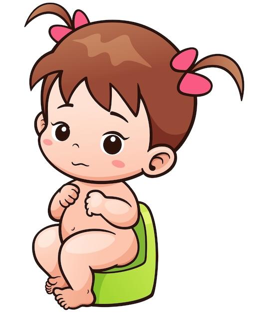 Ребенок на горшке картинки нарисованные