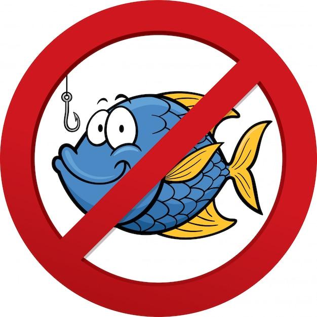 Знак не ловить рыбу сетью