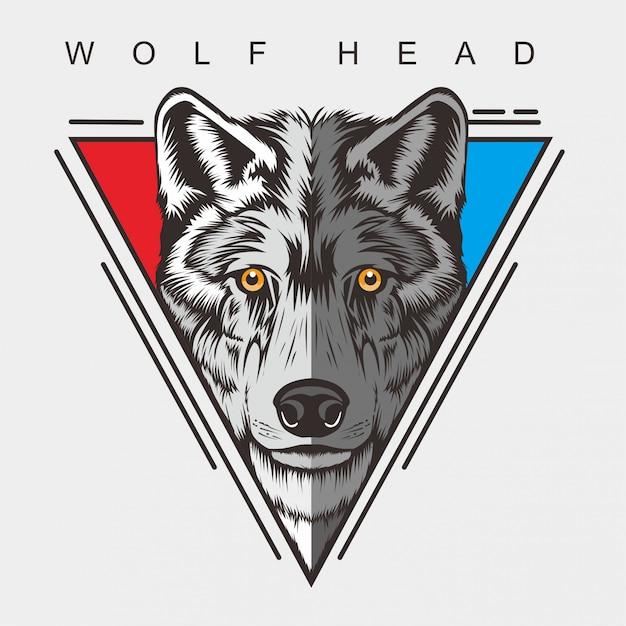 Волчья голова Premium векторы