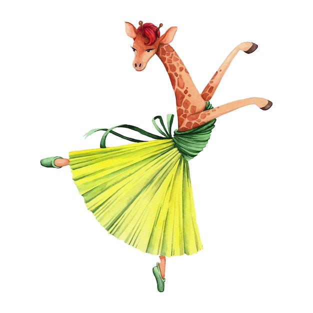 Лет, открытка танцующий жираф