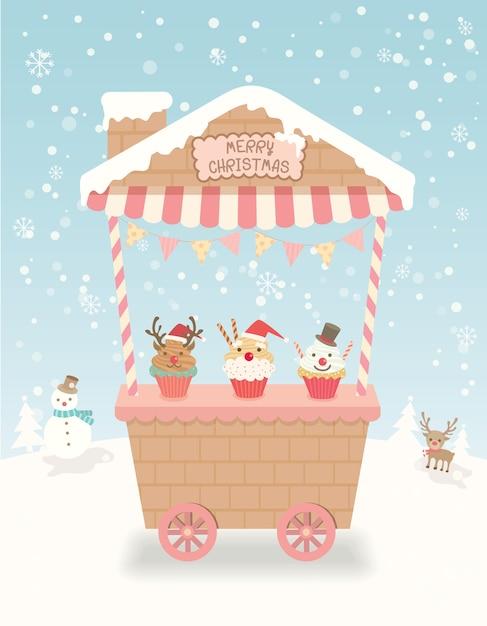 クリスマスカートパーティー Premiumベクター