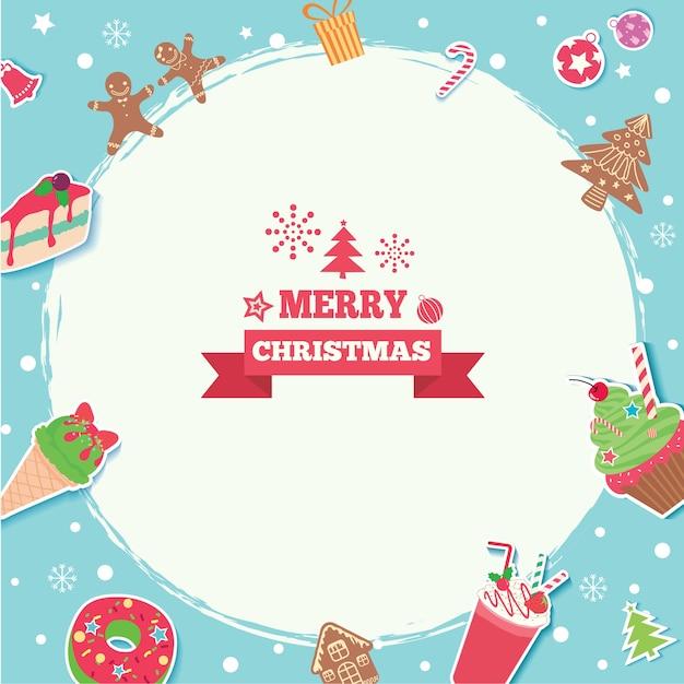 メリークリスマス甘い Premiumベクター