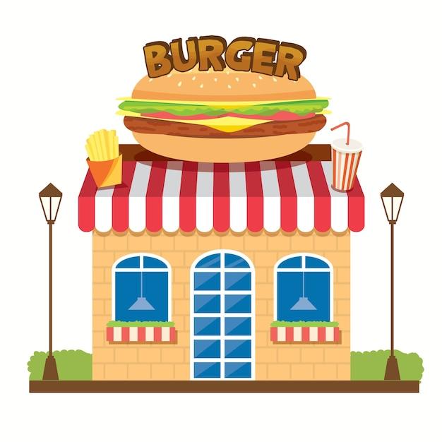 Магазин бургер Premium векторы