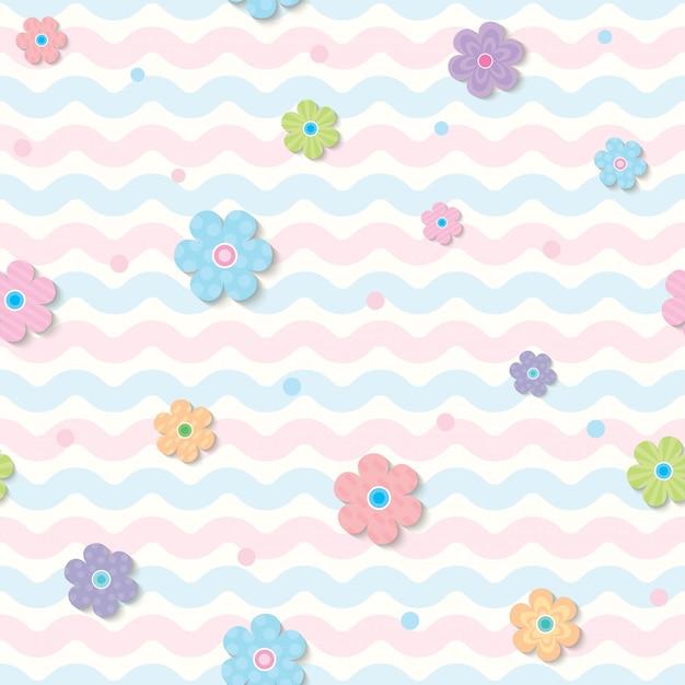 Весна-цветок шаблон Premium векторы