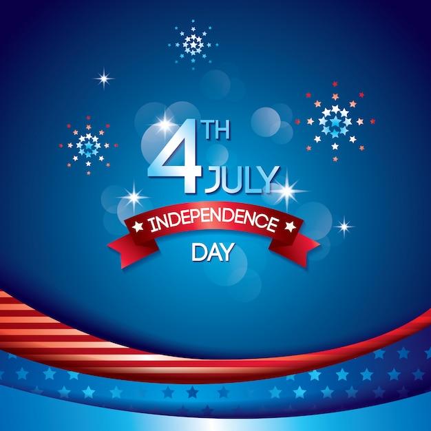 独立記念日の背景 Premiumベクター