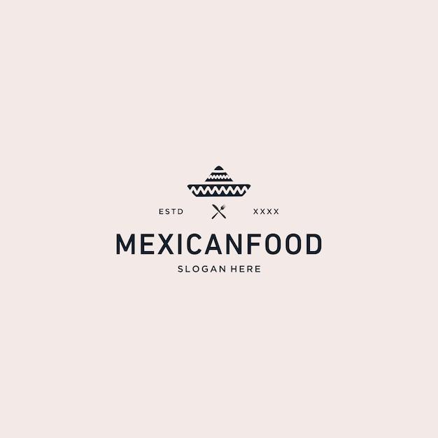 メキシコ料理のロゴのベクトル図 Premiumベクター
