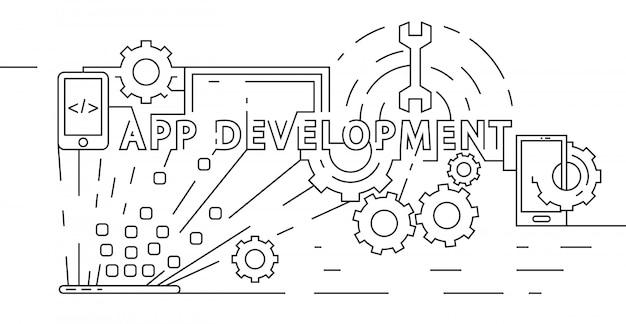 アプリケーション開発コンセプト Premiumベクター