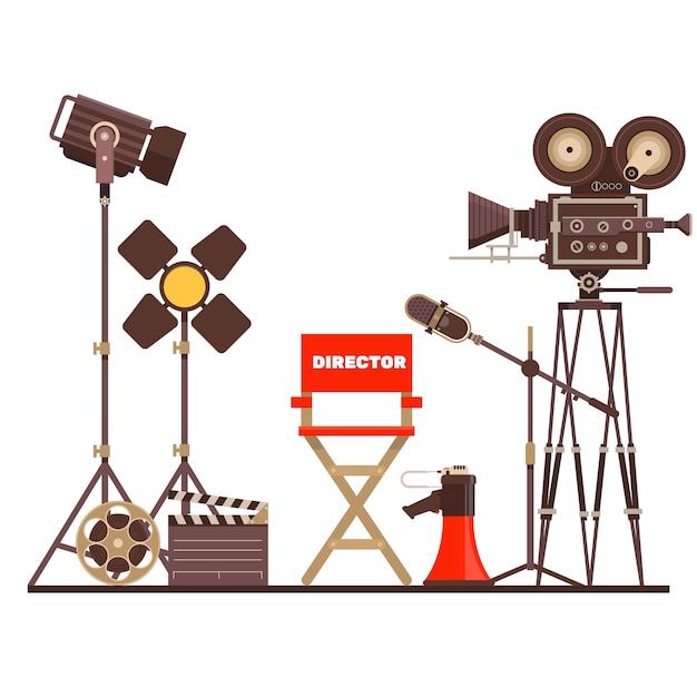 映画監督の職場 Premiumベクター