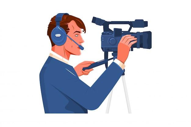 ビデオカメラオペレーター Premiumベクター
