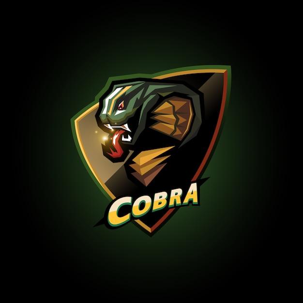 Дизайн логотипа кобры киберспорт Premium векторы