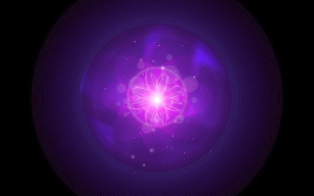 抽象的な紫の花のイラスト Premiumベクター
