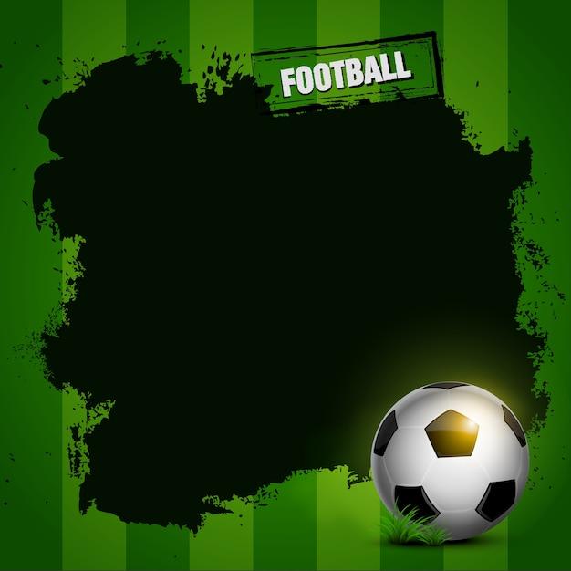 フットボールのフレームデザイン Premiumベクター
