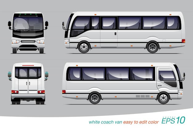 Туристический фургон Premium векторы