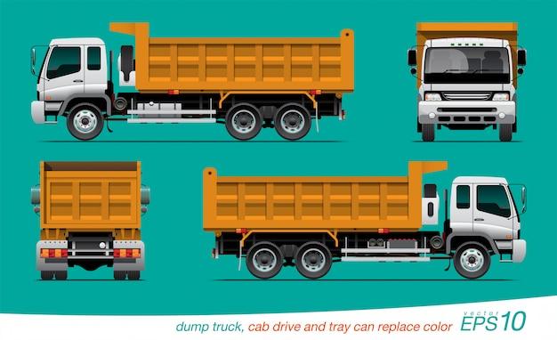 ダンプトラック Premiumベクター
