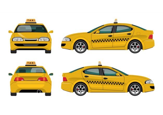 タクシー車 Premiumベクター