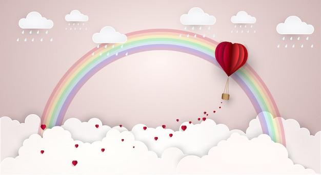 空愛雲虹。ベクトルイラスト Premiumベクター