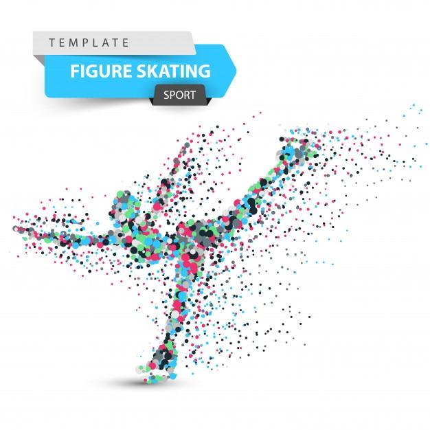 フィギュアスケート イラスト ベクター画像 プレミアムダウンロード