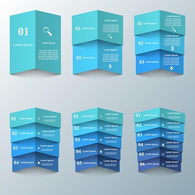ビジネスインフォグラフィック折り紙 Premiumベクター