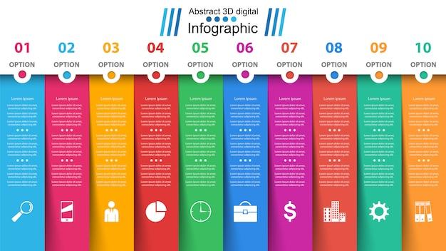 ビジネス紙インフォグラフィック Premiumベクター