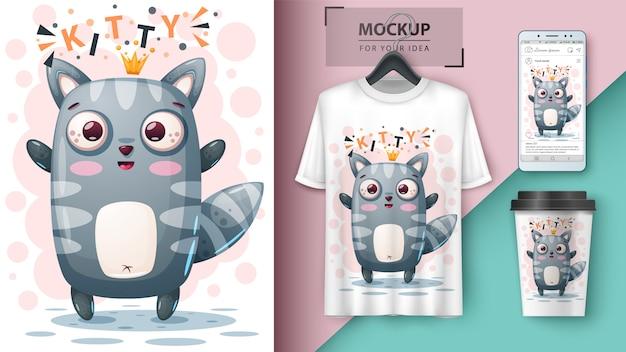 猫姫とマーチャンダイジング Premiumベクター