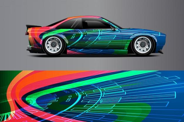 Автомобиль наклейка иллюстрация Premium векторы