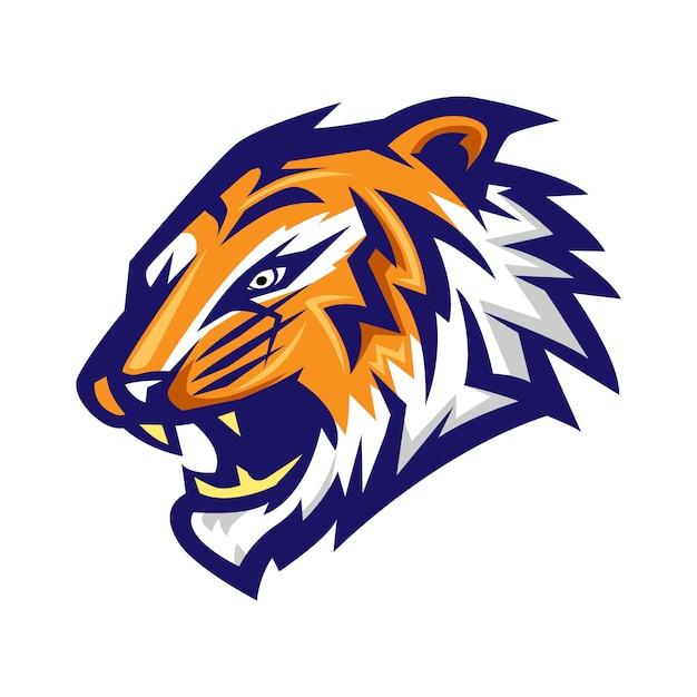 Тигровая голова талисман спорт Premium векторы
