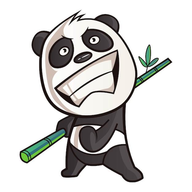 パンダの漫画イラスト。 Premiumベクター