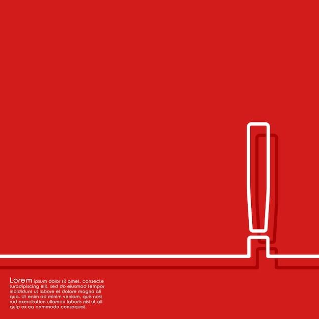 感嘆符付きの抽象的な赤い背景 Premiumベクター