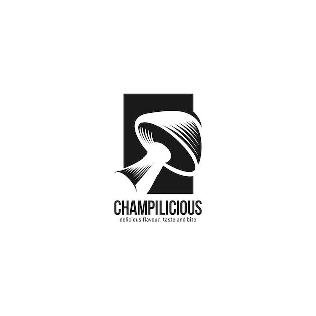 きのこロゴのインスピレーション Premiumベクター