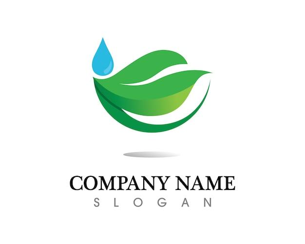 木の葉のロゴデザイン、環境にやさしいコンセプト。 Premiumベクター